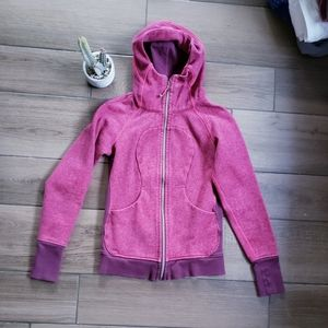 Lululemon Pink Raspberry Scuba Jacket Zip S